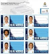 Етикети за тетрадки - ФК Реал Мадрид - Комплект от 18 броя - продукт