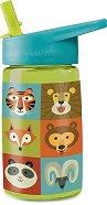 Детска бутилка - Джунгла 450 ml - пъзел