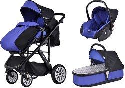 Бебешка количка 3 в 1 - Flamenco - С 4 колела -