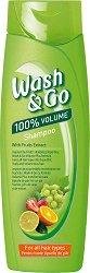 Wash & Go Shampoo With Fruits Extract - Шампоан с плодови екстракти за всеки тип коса - маска