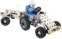 """Трактор с ремарке - 3 в 1 - Детски метален конструктор от серията """"Eitech: Starter"""" - играчка"""