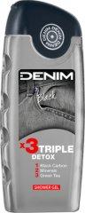 """Denim Black Energizing Shower Gel - Мъжки душ гел с енергизиращ ефект от серията """"Black"""" - продукт"""
