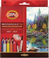 Акварелни цветни моливи - Монделуз - Комплект от 24, 36, 48 или 72 цвята