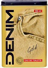 """Denim Gold EDT - Мъжки парфюм в метална кутия от серията """"Gold"""" -"""