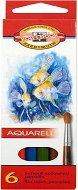 Акварелни моливи - Комплект от 6 цвята и кръгла четка