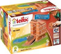 """Къщичка за патета - Детски сглобяем модел от истински тухлички от серията """"Teifoc: Starter"""" -"""