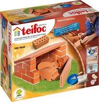 """Къщичка за прасета - Детски сглобяем модел от истински тухлички от серията """"Teifoc: Starter"""" -"""