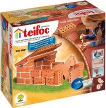 """Конюшня - Детски сглобяем модел от истински тухлички от серията """"Teifoc: Starter"""" - макет"""