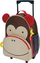 """Детски куфар на колелца - Маймунката Маршал - От серията """"Zoo"""" -"""