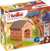 """Кучешка къщичка - Детски сглобяем модел от истински тухлички от серията """"Teifoc: Starter"""" -"""