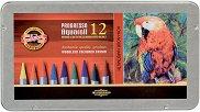 Акварелни цветни моливи - Прогресо - Комплект от 12, 24 или 36 цвята в метална кутия