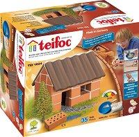 """Малка къща - Детски сглобяем модел от истински тухлички от серията """"Teifoc: Starter"""" -"""
