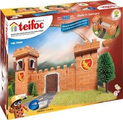 """Рицарски замък - Детски сглобяем модел от истински тухлички от серията """"Teifoc: Professional"""" -"""