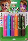 Бои за лице - Комплект от 6 цвята