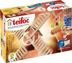 """Вятърна мелница - Детски сглобяем модел от истински тухлички от серията """" Teifoc: Junior"""" -"""