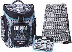 Ученическа раница - Lego Star Wars: Stormtrooper - Комплект с несесер с ученически пособия и спортна торба -