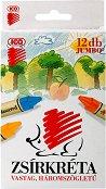 Восъчни пастели - Hedgehog Jumbo - Комплект от 12 цвята