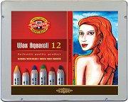 Акварелни восъчни пастели - Комплект от 12 или 24 цвята в метална кутия