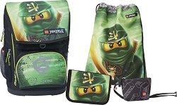 Ученическа раница - Lego Ninjago Lloyd Garmadon - Комплект с несесер с ученически пособия, спортна торба и портмоне -