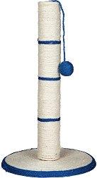 Драскалка за котки с плетена топка - С аромат на котешка трева -