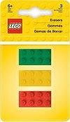 Гумички за молив - LEGO Iconic - Комплект от 3 броя