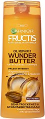 Garnier Fructis Oil Repair 3 Wonder Butter Shampoo - Дълбоко подхранващ шампоан за много суха и изтощена коса - балсам