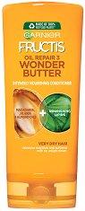 Garnier Fructis Oil Repair 3 Wonder Butter Conditioner - Подхранващ балсам за много суха и изтощена коса - шампоан