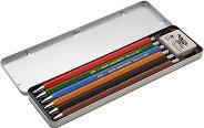 Автоматични моливи - Комплект от 5 броя и гума