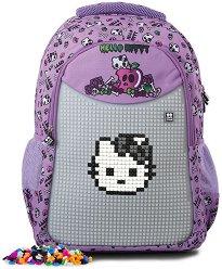 Ученическа раница - Hello Kitty - Комплект със силиконови елементи за декориране -