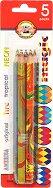 Многоцветни моливи - Magic - Комплект от 5 цвята