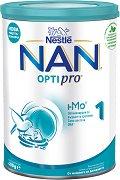 Висококачествено мляко за кърмачета - Nestle NAN OPTIPRO 1 HM-O - Метална кутия от 400 g или 800 g за бебета от момента на раждането -