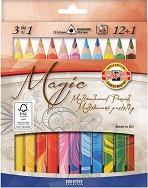 Многоцветни моливи - Комплект от 13 цвята