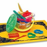 Пластилин с формички и инструменти - Комплект в кофичка