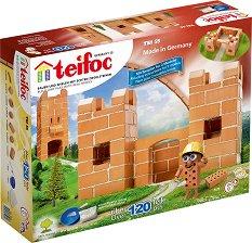 """Малка крепост - Детски сглобяем модел от истински тухлички от серията """" Teifoc: Junior"""" -"""