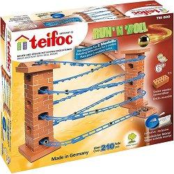 """Писта за топчета - 2 в 1 - Детски сглобяем модел от истински тухлички от серията """"Teifoc: Classic"""" -"""