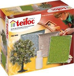 """Настилки и дърво - Комплект за декорация за сглобяемите модели от малки тухли на """"Teifoc"""" - макет"""