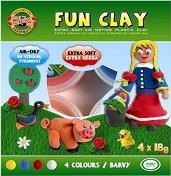 Цветен пластилин - Комплект от 4 цвята