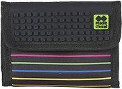 Портмоне - Coloured Stripes - Комплект със силиконови елементи за декориране -