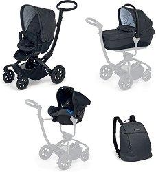 Бебешка количка 3 в 1 - Myo Platinum - С 4 колела -