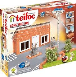 """Бензиностанция - Детски сглобяем модел от истински тухлички от серията """"Teifoc: Professional"""" -"""