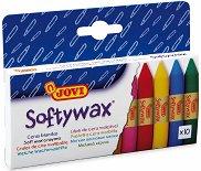 Восъчни пастели - Softywax - Комплект от 10 цвята