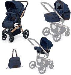 Бебешка количка 3 в 1 - iWood - С 4 колела -