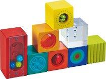 Дървени блокчета - Детска образователна играчка -