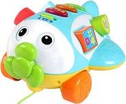 Говорещ самолет за дърпане - Играчка за сортиране и подреждане - играчка