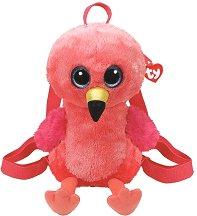"""Плюшена раница за детска градина - Фламинго Gilda - От серията """"Gear"""" -"""