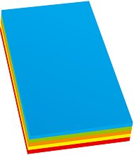 Цветен копирен картон - Комплект от 100 листа в 5 цвята, формат А4