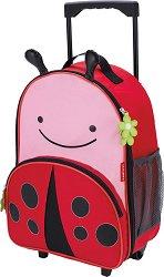 """Детски куфар на колелца - Калинката Ливия - От серията """"Zoo"""" -"""