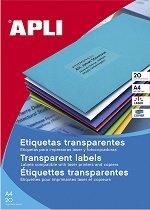 Прозрачни правоъгълни полиестерни етикети за принтиране