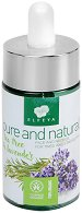 Elfeya Cosmetics Pure & Natural - Масло за лице и шия за уморена и стресирана кожа с чаено дърво и лавандула -