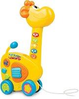 Жираф - 2 в 1 - Музикална играчка за дърпане - играчка